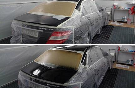 Βαφή Mercedes-Benz C200